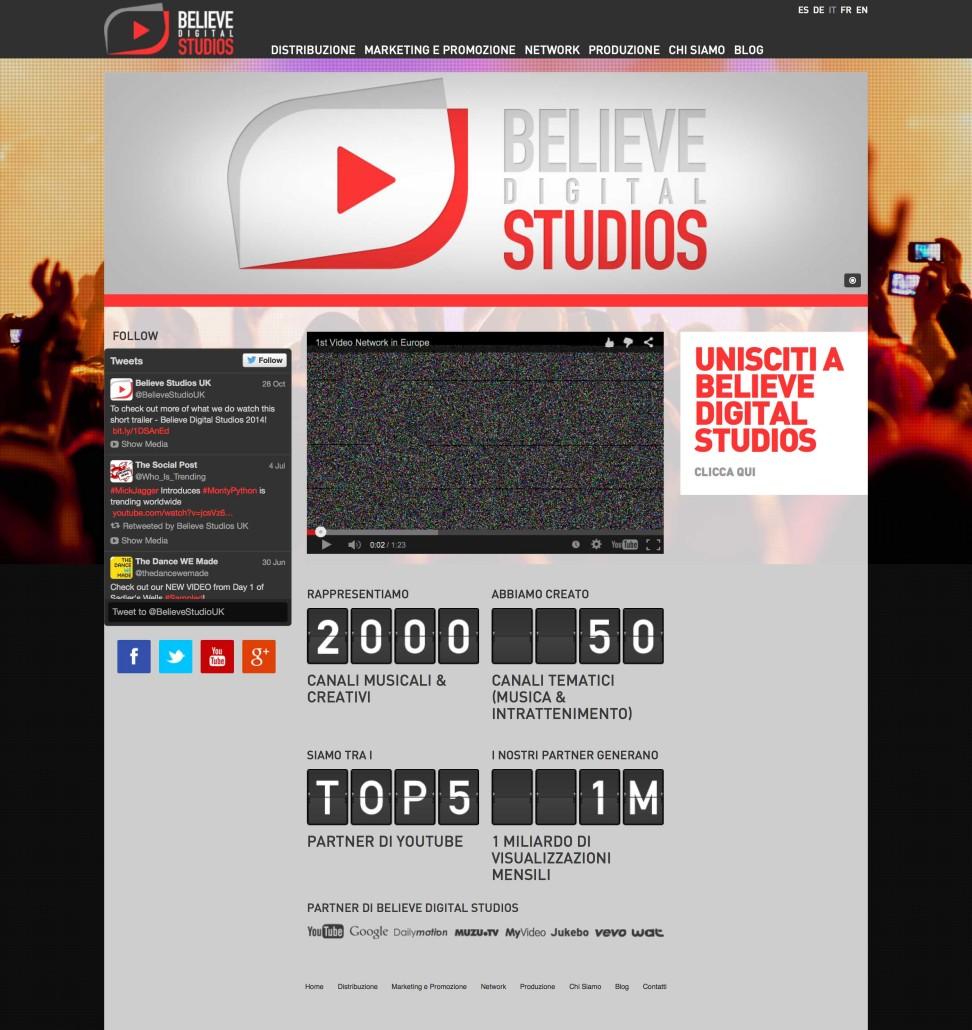 Servizi Promuovere Musica Online: Believe Digital Studios