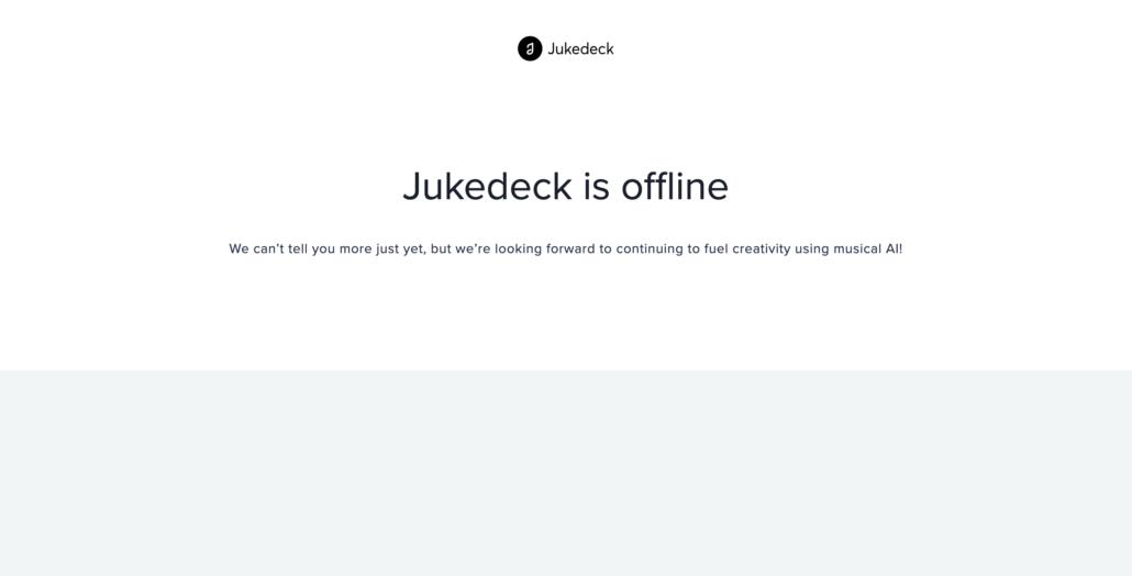 jukedeck homepage