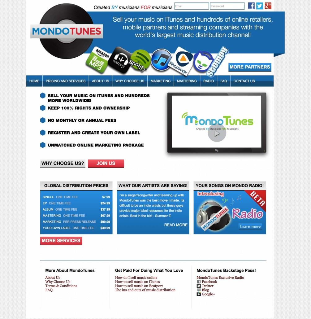Servizi Promuovere Musica Online: Mondo Tunes