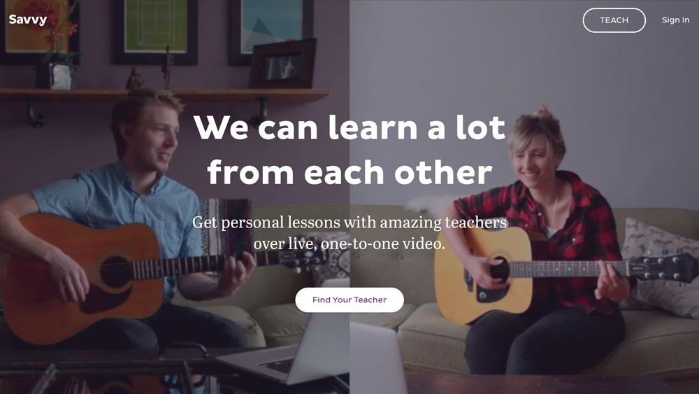 Savvy per dare lezioni di musica online