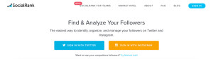 SocialRank - Analizza i tuoi Followers