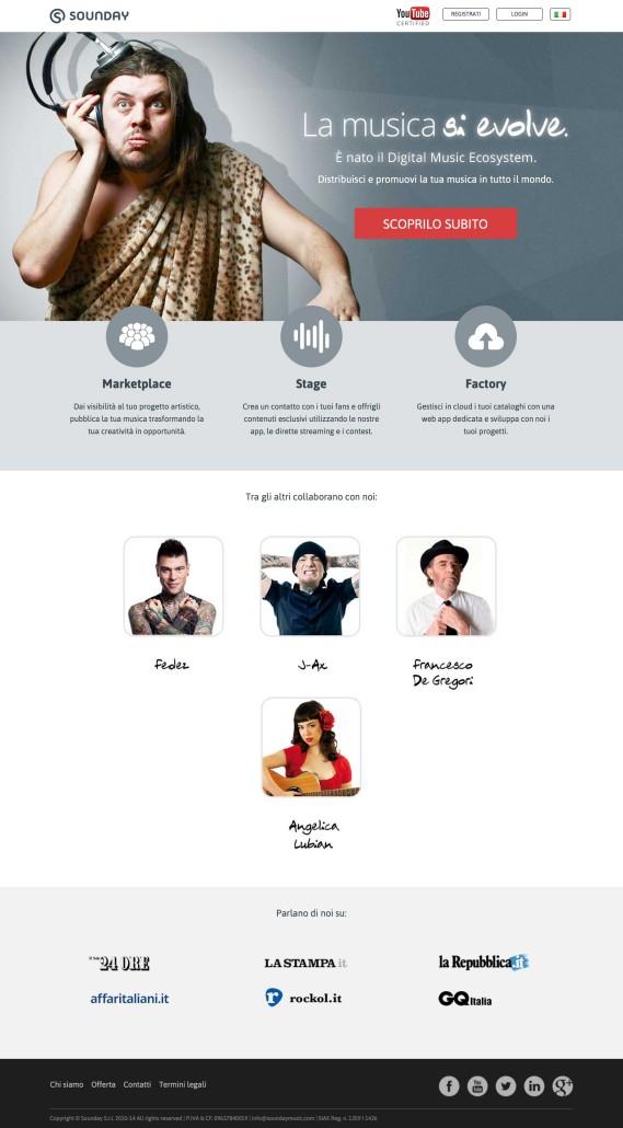 Servizi Promuovere Musica Online: Sounday Music
