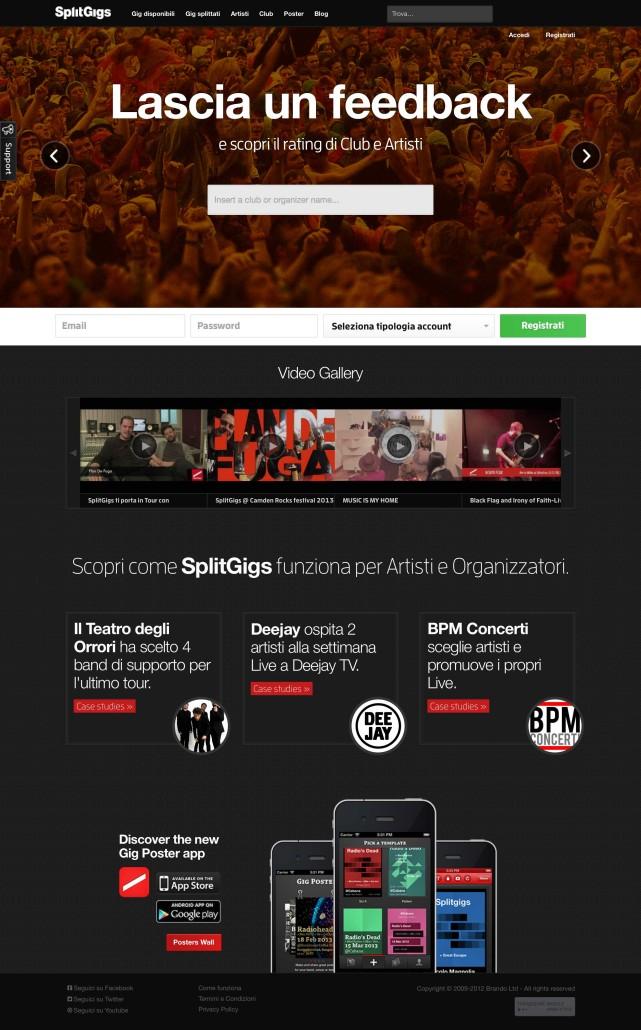 Servizi Promuovere Musica Online: SplitGigs
