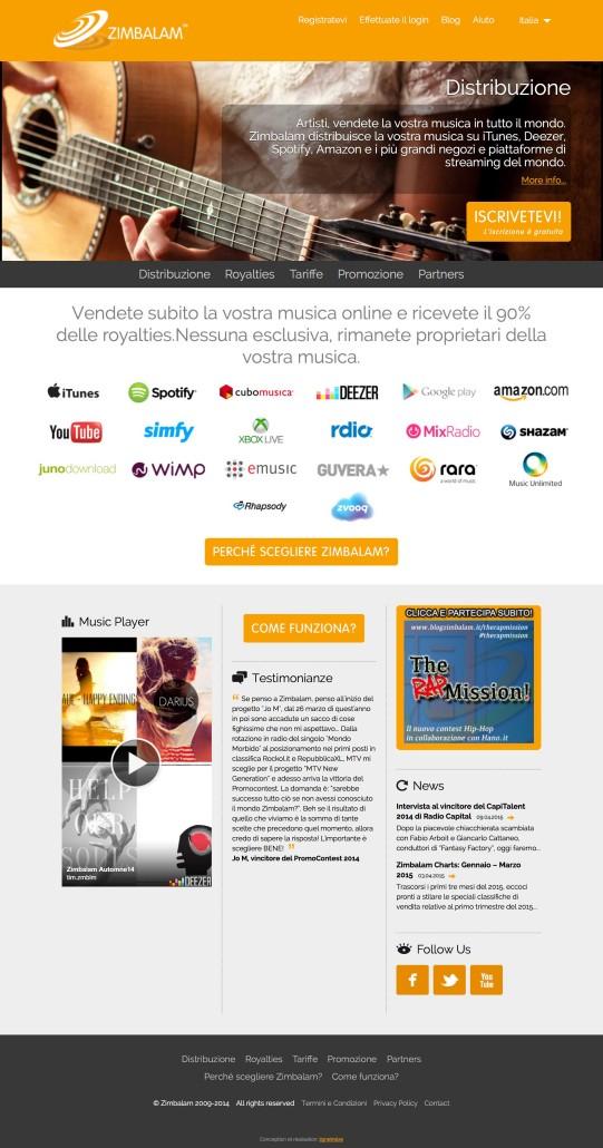 Servizi Promuovere Musica Online: Zimbalam