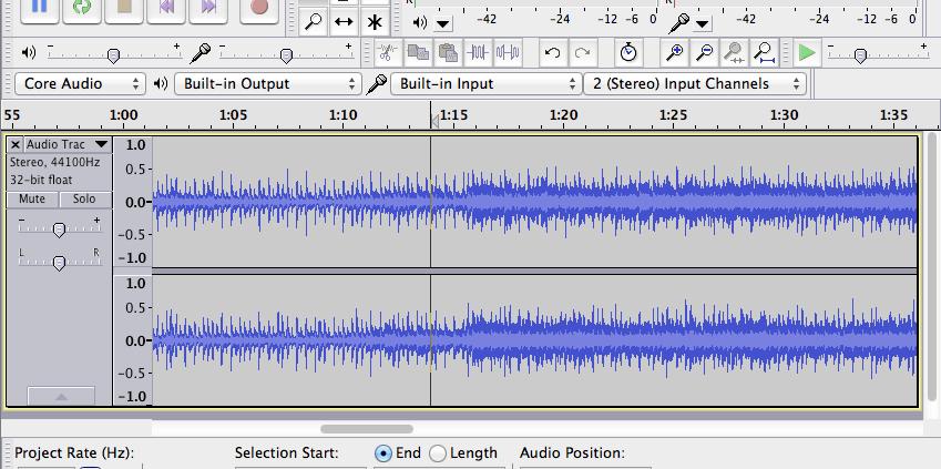 registrare musica - Audacity